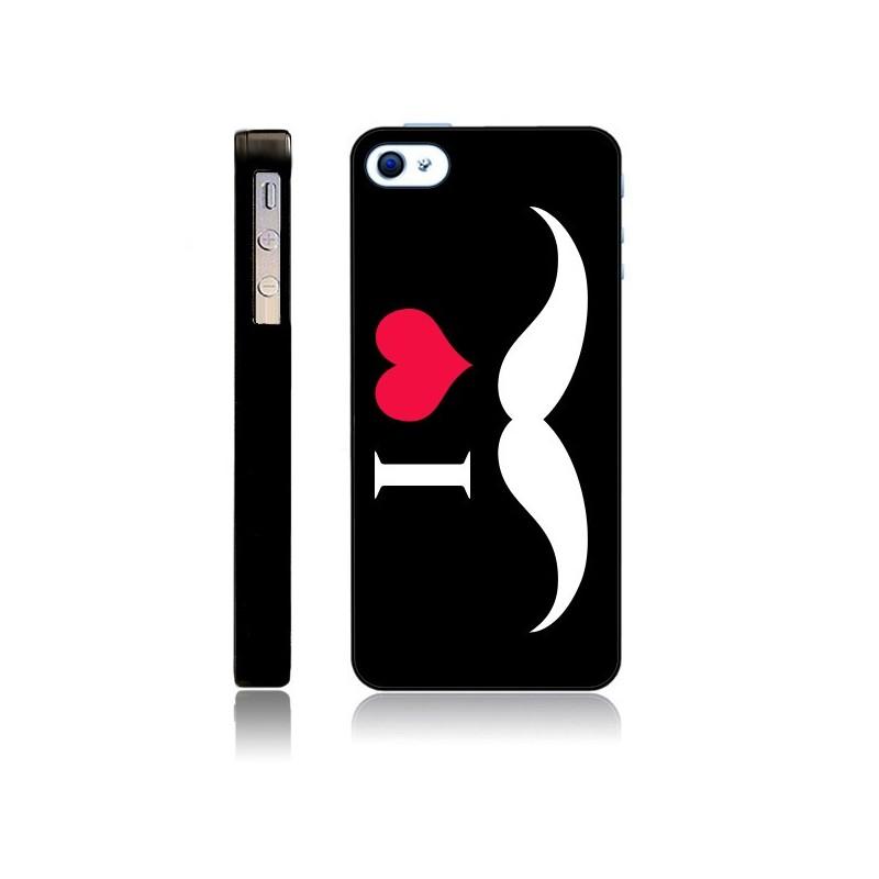 Coque I Love Moustache pour iPhone 5