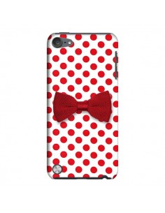 Coque Nœud Papillon Rouge Girly Bow Tie pour iPod Touch 5 - Laetitia