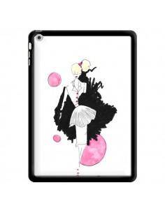 Coque Demoiselle Femme Fashion Mode Rose pour iPad Air - Cécile