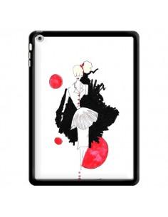 Coque Demoiselle Femme Fashion Mode Rouge pour iPad Air - Cécile