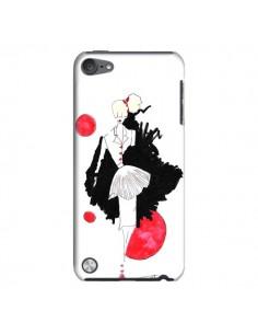Coque Demoiselle Femme Fashion Mode Rouge pour iPod Touch 5 - Cécile