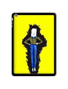 Coque Julie Femme Fashion Mode Jaune pour iPad Air - Cécile