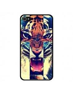 Coque Tigre Swag Croix Roar Tiger pour iPhone 4 et 4S - Laetitia