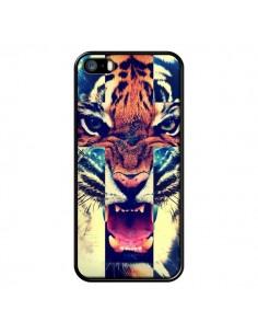 Coque Tigre Swag Croix Roar Tiger pour iPhone 5 et 5S - Laetitia
