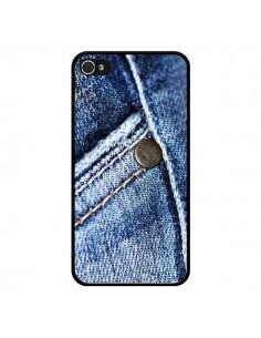 Coque Jean Vintage pour iPhone 4 et 4S - Laetitia