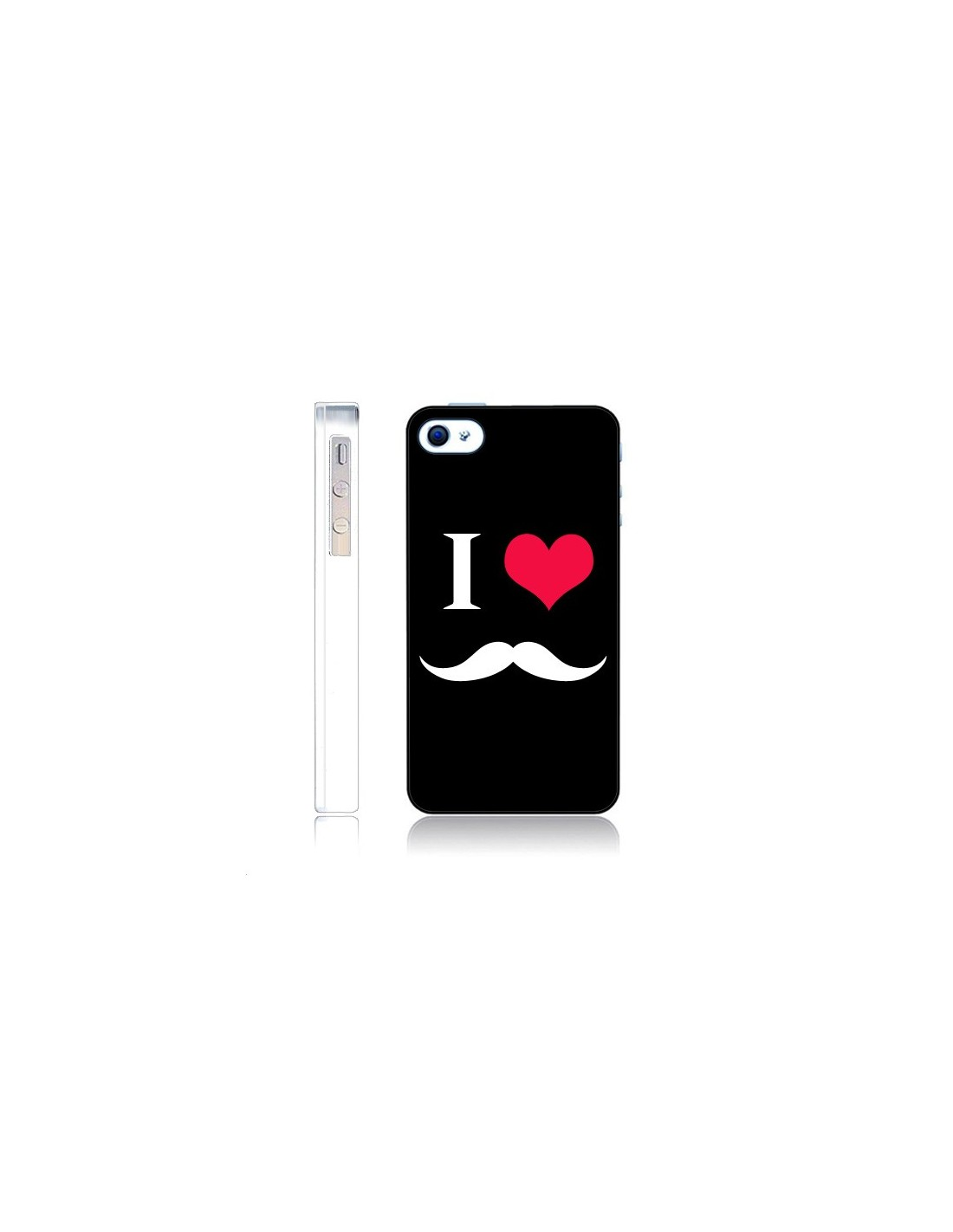 coque i love moustache pour iphone 4 et 4s nico coques. Black Bedroom Furniture Sets. Home Design Ideas