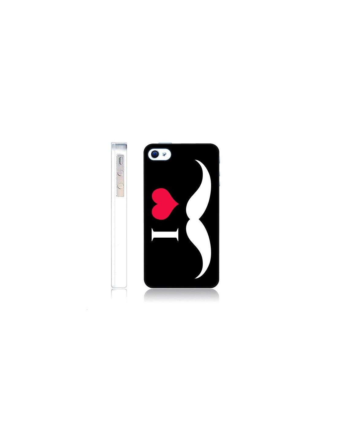 coque i love moustache pour iphone 4 et 4s nico coques. Black Bedroom Furniture Sets. Home Design Ideas