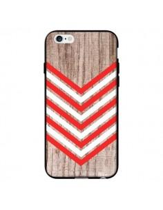 Coque Tribal Aztèque Bois Wood Flèche Rouge Blanc pour iPhone 6 - Laetitia