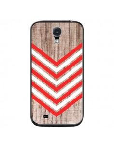 Coque Tribal Aztèque Bois Wood Flèche Rouge Blanc pour Samsung Galaxy S4 - Laetitia