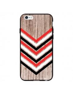 Coque Tribal Aztèque Bois Wood Flèche Rouge Blanc Noir pour iPhone 6 - Laetitia