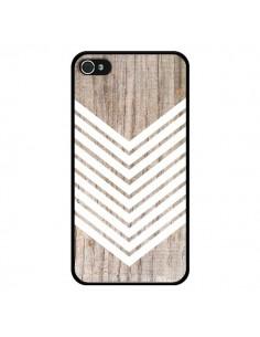 Coque Tribal Aztèque Bois Wood Flèche Blanc pour iPhone 4 et 4S - Laetitia