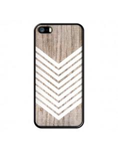 Coque Tribal Aztèque Bois Wood Flèche Blanc pour iPhone 5 et 5S - Laetitia