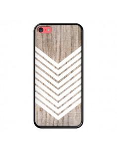 Coque Tribal Aztèque Bois Wood Flèche Blanc pour iPhone 5C - Laetitia