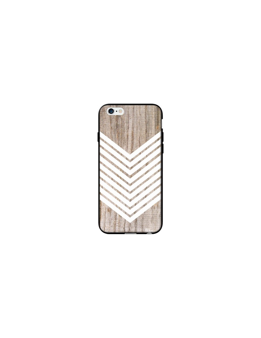 coque tribal azt que bois wood fl che blanc pour iphone 6 et 6s laetitia. Black Bedroom Furniture Sets. Home Design Ideas