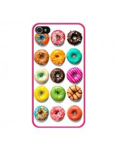 Coque Donuts Multicolore Chocolat Vanille pour iPhone 4 et 4S - Laetitia