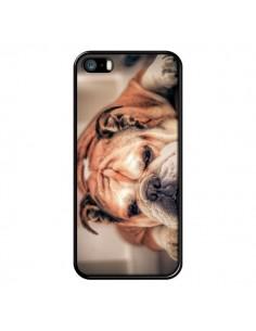 Coque Chien Bulldog Dog pour iPhone 5 et 5S - Laetitia