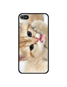Coque Chat Cat Tongue pour iPhone 4 et 4S - Laetitia