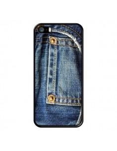 Coque Jean Bleu Vintage pour iPhone 5 et 5S - Laetitia