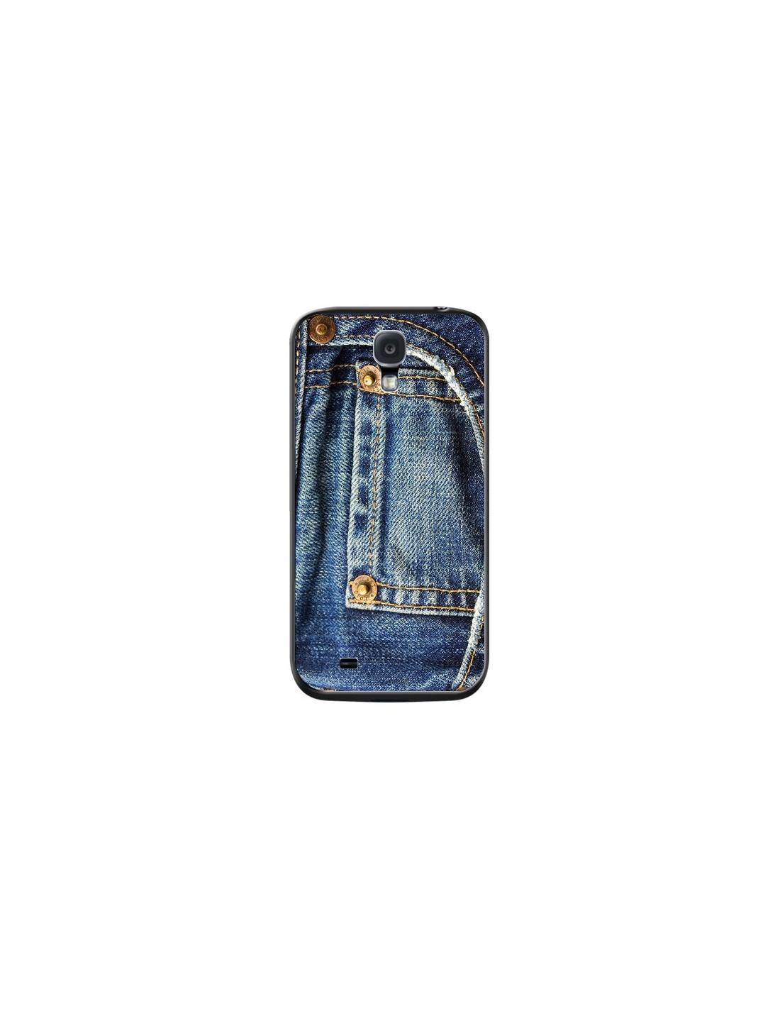 Coque Jean Bleu Vintage pour Samsung Galaxy S4 - Laetitia