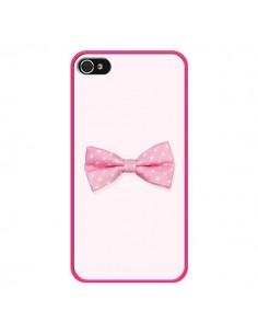 Coque Nœud Papillon Rose Girly Bow Tie pour iPhone 4 et 4S - Laetitia