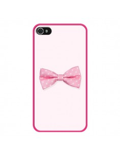 Coque Nœud Papillon Rose Girly Bow Tie pour iPhone 4 et 4S - Laetitia