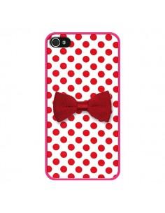 Coque Nœud Papillon Rouge Girly Bow Tie pour iPhone 4 et 4S - Laetitia