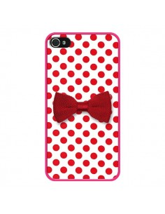 Coque Nœud Papillon Rouge Girly Bow Tie pour iPhone 4 et 4S - Laetitia