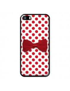 Coque Nœud Papillon Rouge Girly Bow Tie pour iPhone 5 et 5S - Laetitia