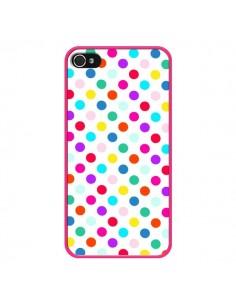 Coque Pois Multicolores pour iPhone 4 et 4S - Laetitia