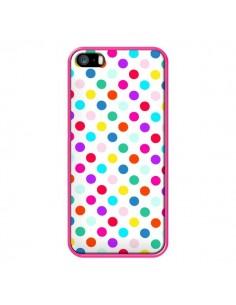 Coque Pois Multicolores pour iPhone 5 et 5S - Laetitia
