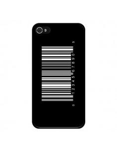 Coque Code Barres Blanc pour iPhone 4 et 4S - Laetitia
