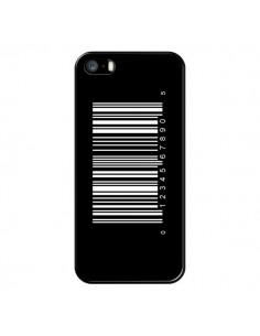 Coque Code Barres Blanc pour iPhone 5 et 5S - Laetitia
