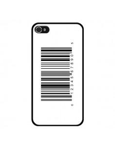 Coque Code Barres Noir pour iPhone 4 et 4S - Laetitia