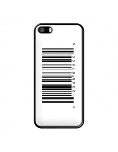 Coque Code Barres Noir pour iPhone 5 et 5S - Laetitia