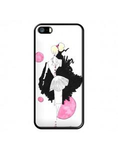 Coque Demoiselle Femme Fashion Mode Rose pour iPhone 5 et 5S - Cécile