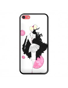 Coque Demoiselle Femme Fashion Mode Rose pour iPhone 5C - Cécile