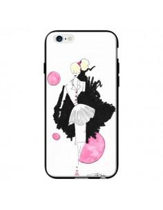 Coque Demoiselle Femme Fashion Mode Rose pour iPhone 6 - Cécile
