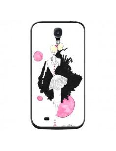 Coque Demoiselle Femme Fashion Mode Rose pour Samsung Galaxy S4 - Cécile