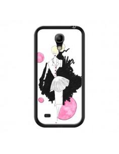 Coque Demoiselle Femme Fashion Mode Rose pour Samsung Galaxy S4 Mini - Cécile
