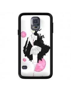 Coque Demoiselle Femme Fashion Mode Rose pour Samsung Galaxy S5 - Cécile