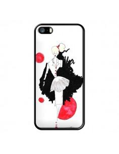 Coque Demoiselle Femme Fashion Mode Rouge pour iPhone 5 et 5S - Cécile