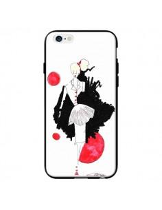 Coque Demoiselle Femme Fashion Mode Rouge pour iPhone 6 - Cécile