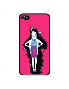 Coque Lola Femme Fashion Mode Rose pour iPhone 4 et 4S - Cécile