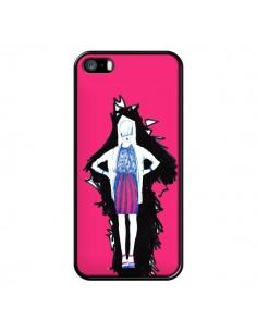 Coque Lola Femme Fashion Mode Rose pour iPhone 5 et 5S - Cécile