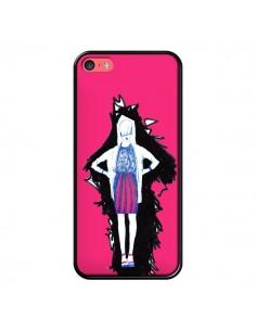 Coque Lola Femme Fashion Mode Rose pour iPhone 5C - Cécile