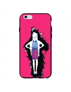 Coque Lola Femme Fashion Mode Rose pour iPhone 6 - Cécile