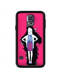 Coque Lola Femme Fashion Mode Rose pour Samsung Galaxy S5 - Cécile