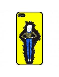Coque Julie Femme Fashion Mode Jaune pour iPhone 4 et 4S - Cécile