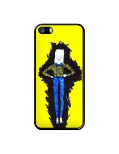 Coque Julie Femme Fashion Mode Jaune pour iPhone 5 et 5S - Cécile