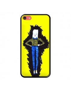 Coque Julie Femme Fashion Mode Jaune pour iPhone 5C - Cécile